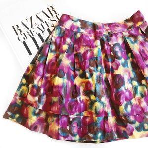 Hinge print skirt